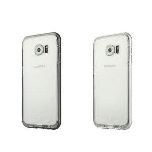 Funda protectoraTransparente BASEUS TPU con Borde metálico para Samsung Galaxy S6