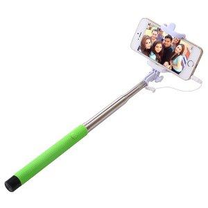 Palo selfie plegable para celulares en 6 colores Control por cable
