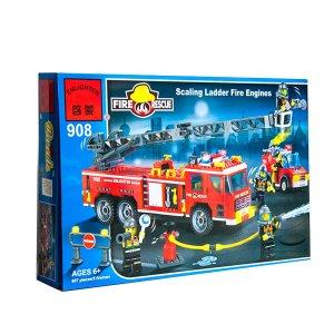 Set de fichas tipo Lego Súper camión bombero SCALLING LEADER FIRE ENGINES - Grande