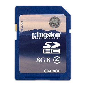 Kingston SD4 8GB Class4 Tarjetas de Memoria
